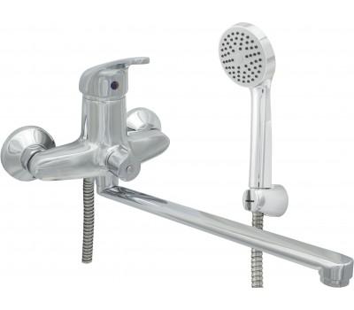 Смеситель для ванны/душа Стройка 300-4 одноручный М42 Д35 плоский излив L=320мм Подольск СТ300003