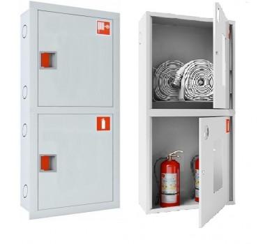 Шкаф пожарн ШПК 320 12 НЗБ 300 мм навесной закрытый белый евро ручка УЗИС