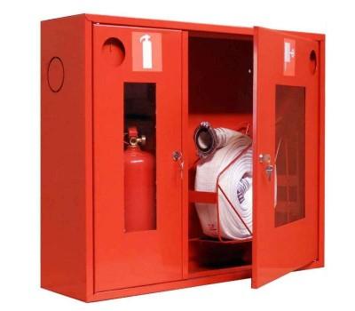 Шкаф пожарн ШПК 315 НОК 200 мм навесной открытый красный