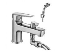 Смеситель для ванны  одноручный короткий излив на борт ванны хром ROSSINKA S35-38