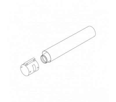 Удлинитель коаксиальн алюминий 80/125 L=1,0м Protherm 0020199412