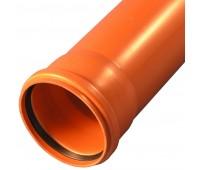 Труба НПВХ коричневый Дн110х3,2 L=0,5м (50) Россия