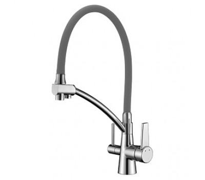 Смеситель для кухни Comfort с подключением к фильтру серый LeMark LM3071C-Gray