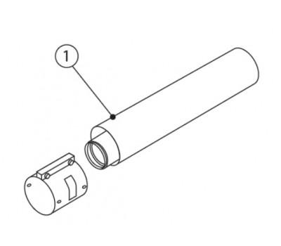 Удлинитель сталь 60/100 L=0,5м соединительный хомут в комплекте Protherm 0020257007