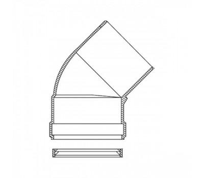 Уголок алюминий Ду80 45° для газоотвода Protherm 3003200574