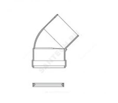 Уголок алюминий Ду80 45° для газоотвода Protherm 3003200574/9103200574