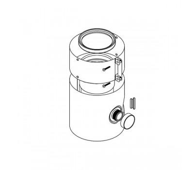 Удлинитель коаксиальн  алюминий 60/100 L=0,2м с отверстиями для проведения измерений Protherm 0020199400