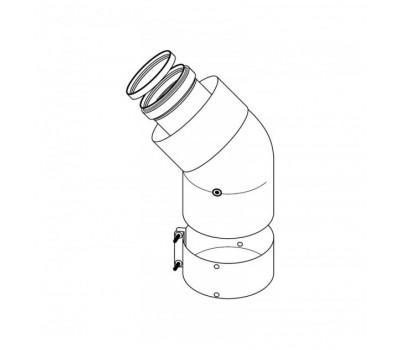 Отвод коаксиальн  алюминий 60/100 45° Protherm 0020199404