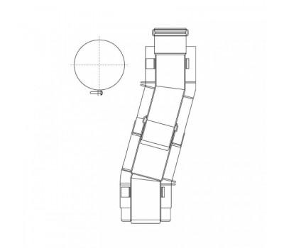 Участок телескопическ  60/100 L=0,33м-0,56м для компенсации смещения трубы Protherm 0020199407