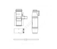 Конденсатоотводчик  алюминий 60/100 со шлангом и сифоном Protherm 0020199409