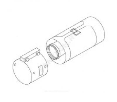 Удлинитель алюминий 80/125 с ревизионным отверстием Protherm 0020199419