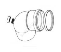 Отвод алюминий 80мм с отверстиями для проведения измерений Protherm 0020199430
