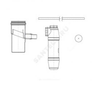 Конденсатоотводчик алюминий 80мм со шлангом и сифоном Protherm 0020199437