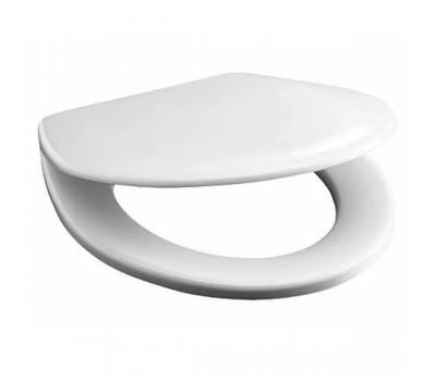 Сиденье для унитаза дюропласт Vega петли хром белый Jika 9153.4