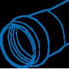 Труба напорная ПВХ, НПВХ  и фитинги