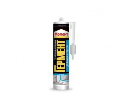 Герметик для окон и стекол силикон   санитарный 280гр бесцветный Момент-Гермент А3702